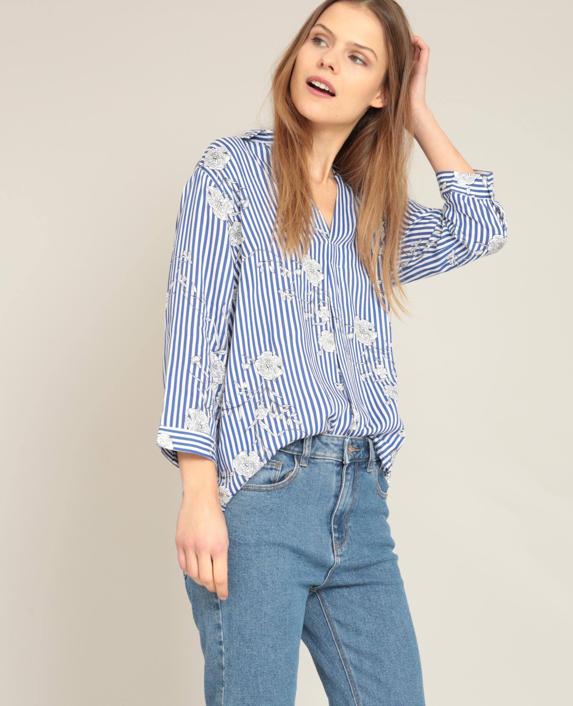 Chemise Jean Longue avec chemise femme | pimkie