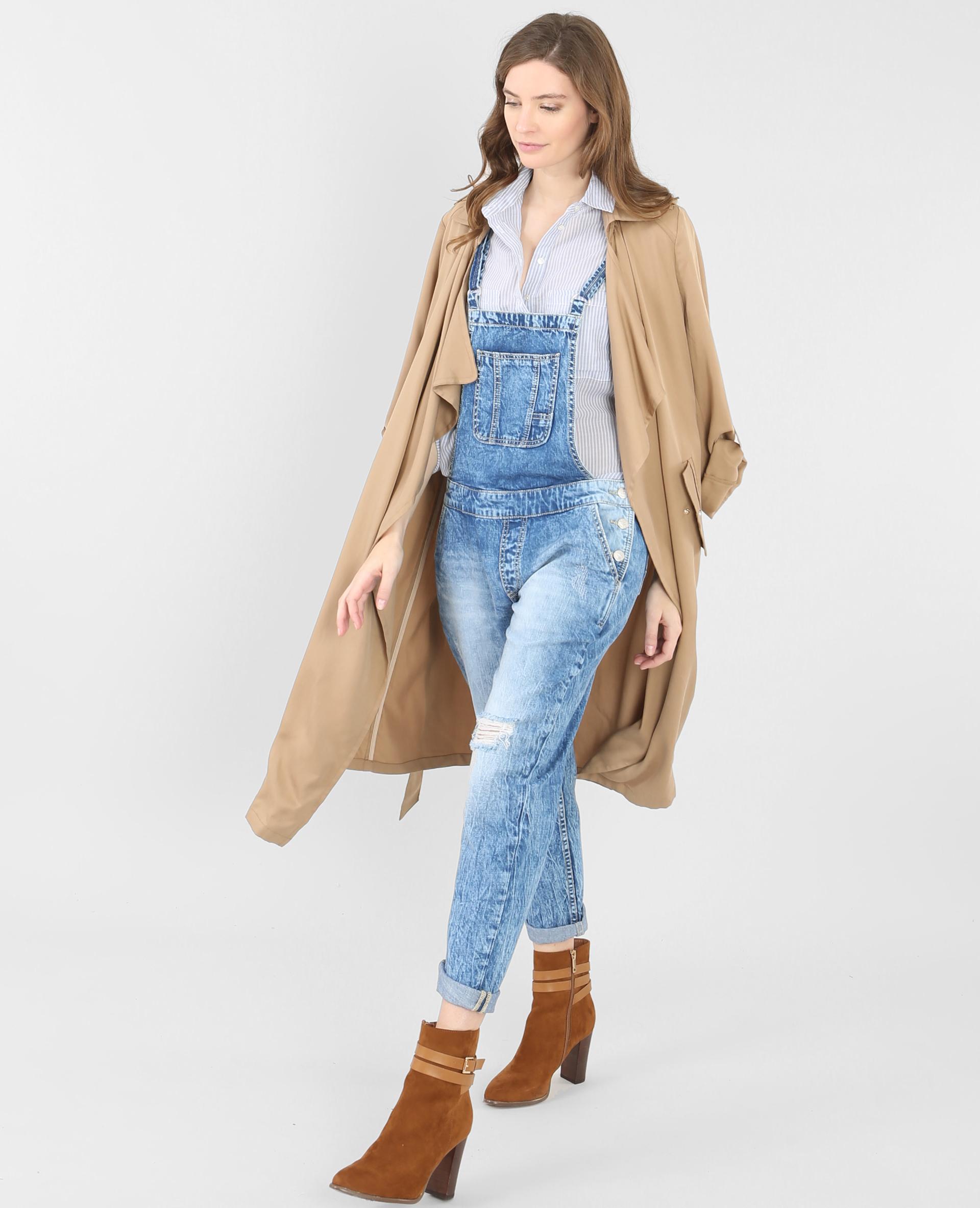 salopette en jean bleu denim 174021683a06 pimkie. Black Bedroom Furniture Sets. Home Design Ideas