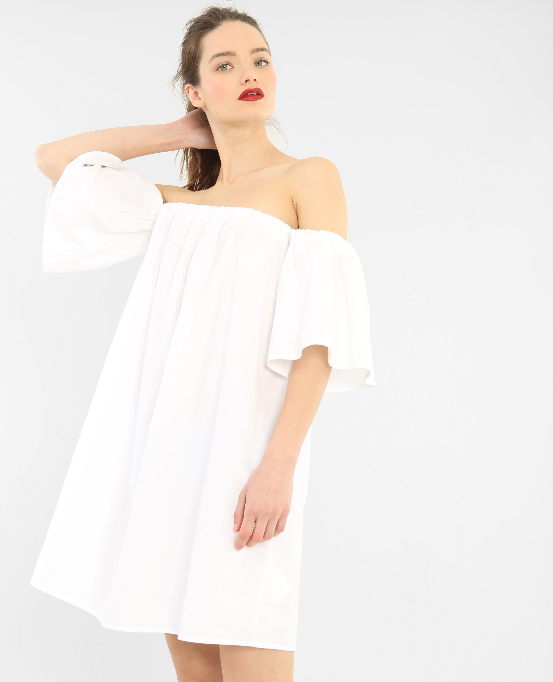 Robe popeline blanc 780658905a09 pimkie - Kleider pimkie ...