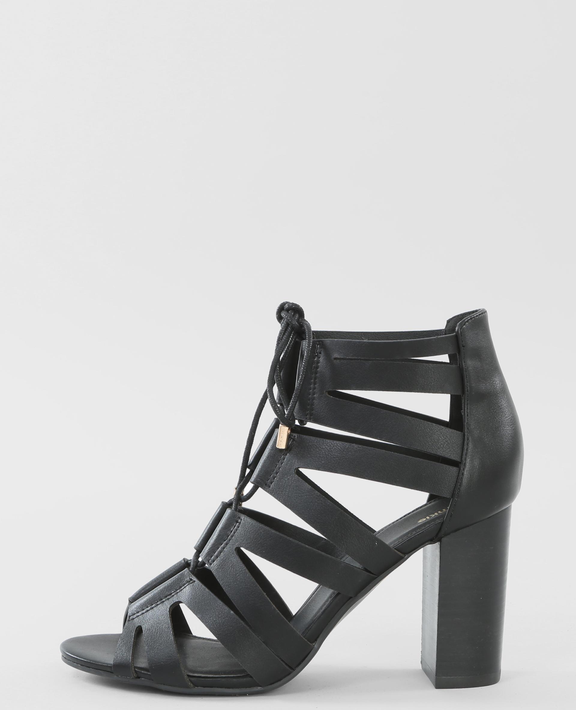 sandales talon noir 988078899a08 pimkie. Black Bedroom Furniture Sets. Home Design Ideas