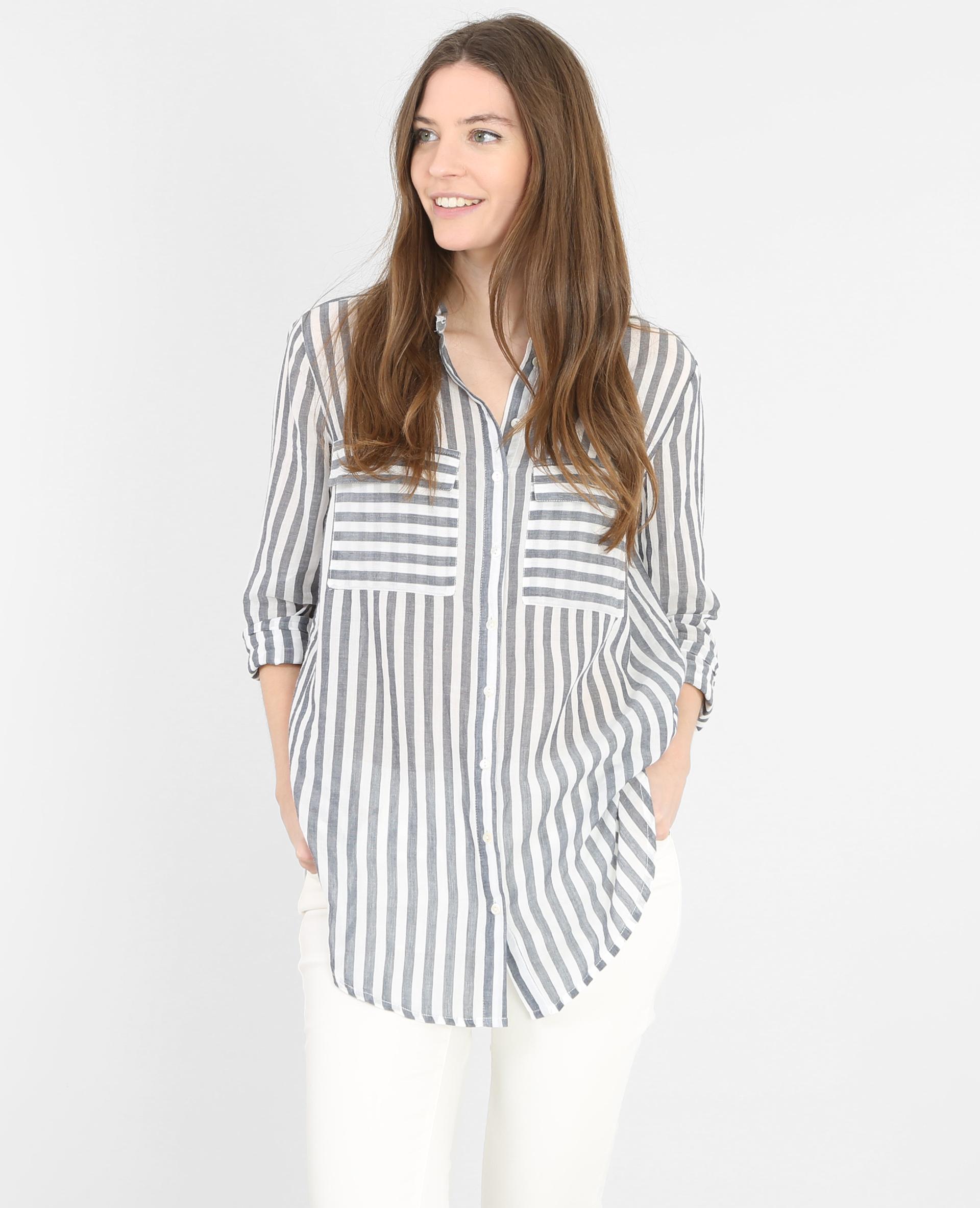chemise ray e blanc cass 561245912c08 pimkie. Black Bedroom Furniture Sets. Home Design Ideas