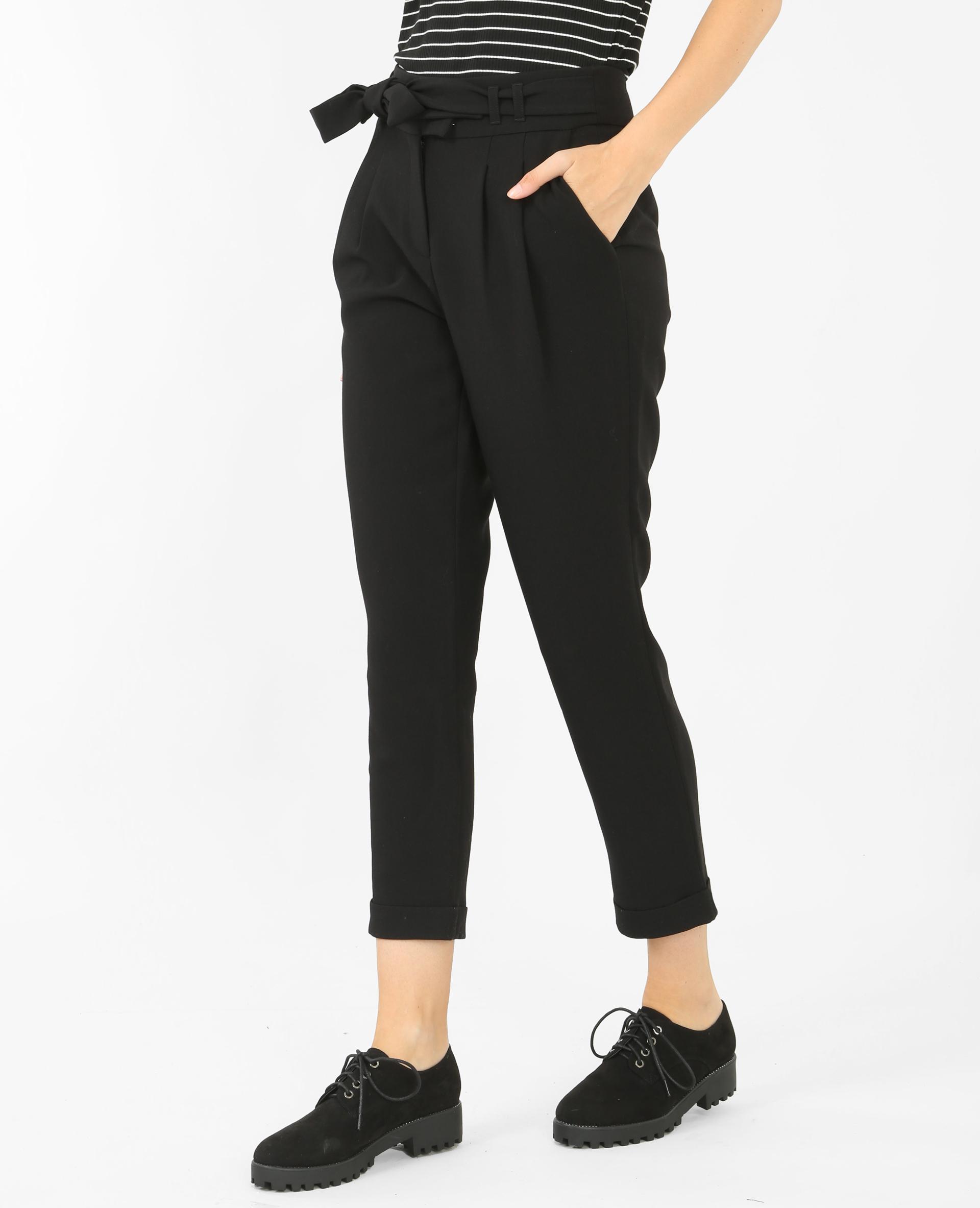 pantalon carrot noir 145166899a08 pimkie. Black Bedroom Furniture Sets. Home Design Ideas