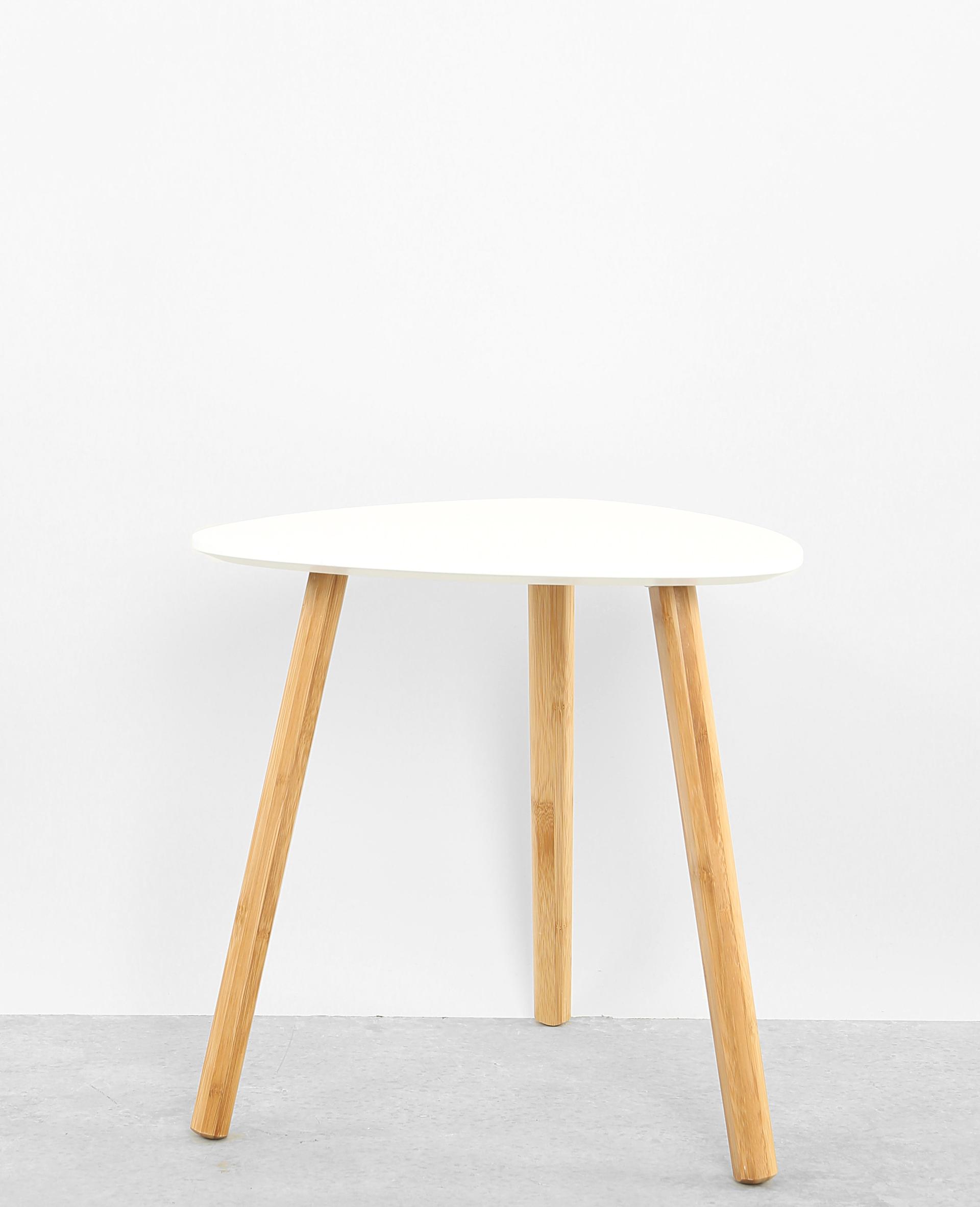 petite table 3 pieds blanc cass 904034912a09 pimkie. Black Bedroom Furniture Sets. Home Design Ideas