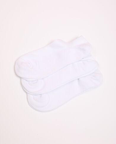 Lot de chaussettes basses blanc