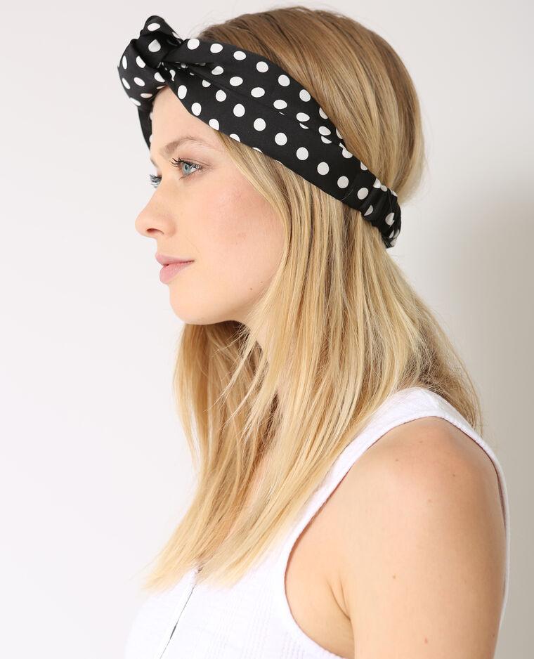 Headband à pois noir
