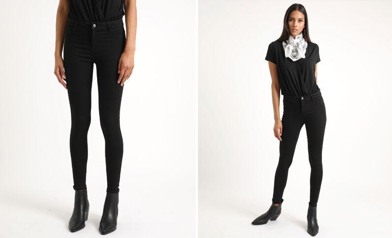 6e62152222c9 Jean skinny taille haute noir