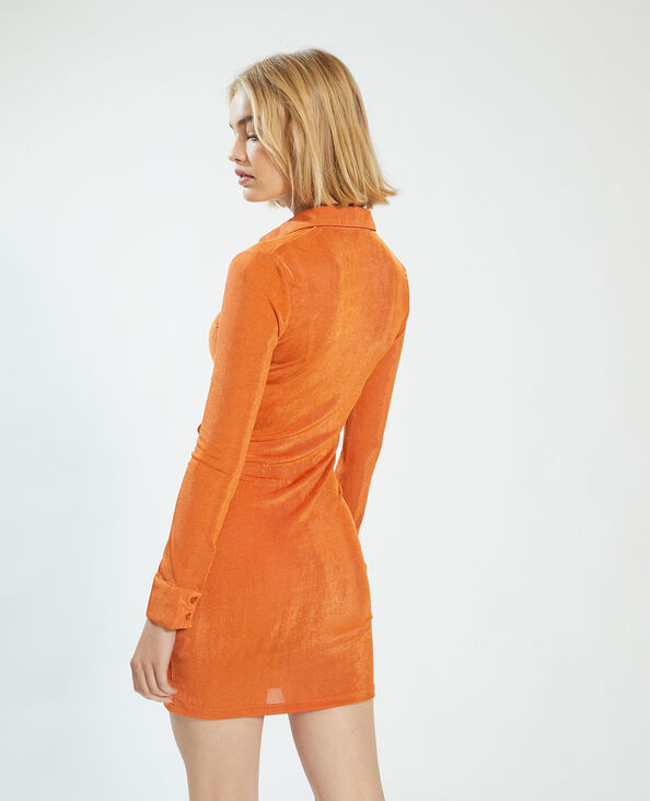 Robe froncée orange - Pimkie