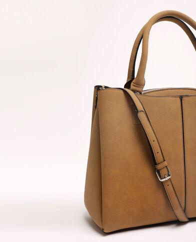 Grand sac cabas beige ficelle