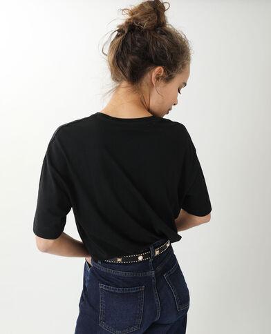 T-shirt oversize manches courtes noir