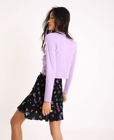 T-shirt cropped lilas - Pimkie