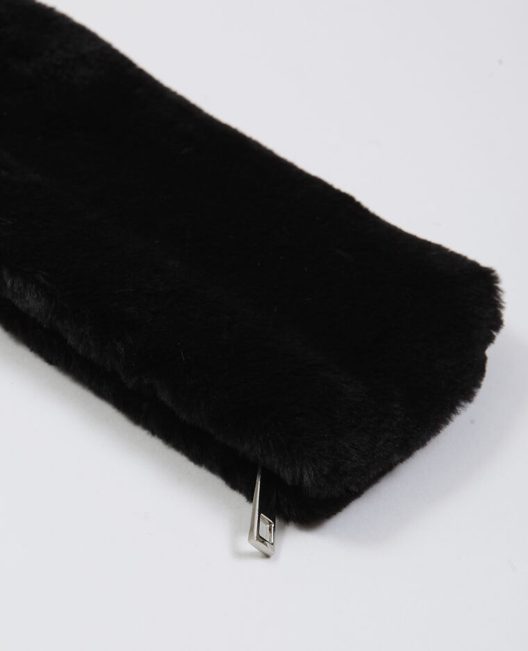 Trousse fausse fourrure noir