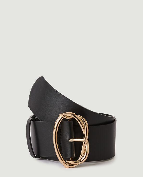 Large ceinture en simili cuir noir - Pimkie