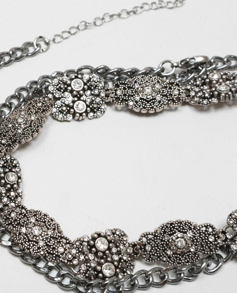 020610f76df Fine ceinture bijoux gris argenté - 976058898A0G
