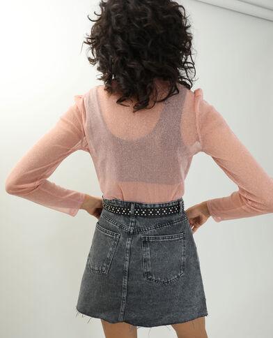 T-shirt pailleté transparent rose - Pimkie