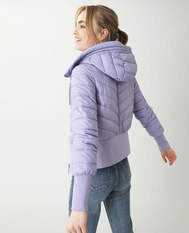 Doudoune à capuche violet