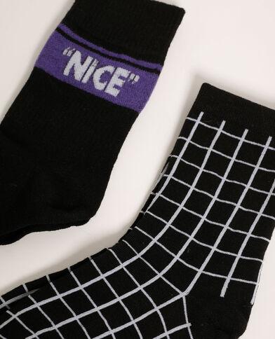 Lot de 2 paires de chaussettes noir - Pimkie