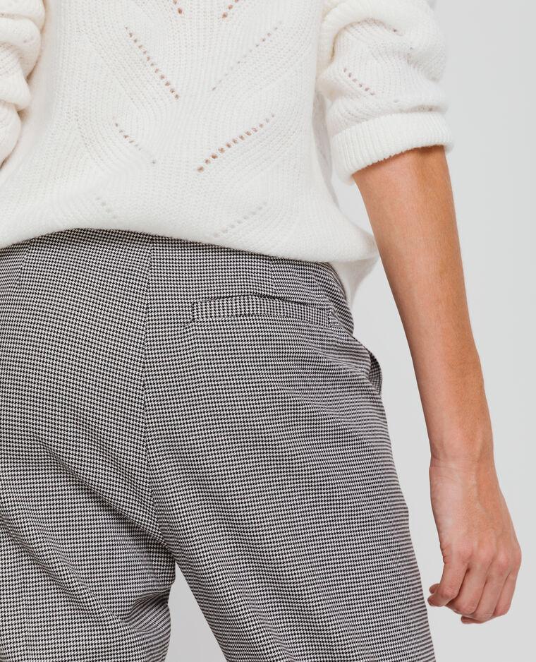 Pantalon city imprimé blanc