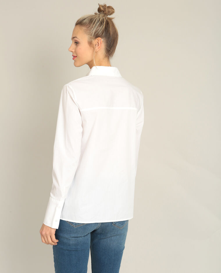 Chemise à nouer blanc