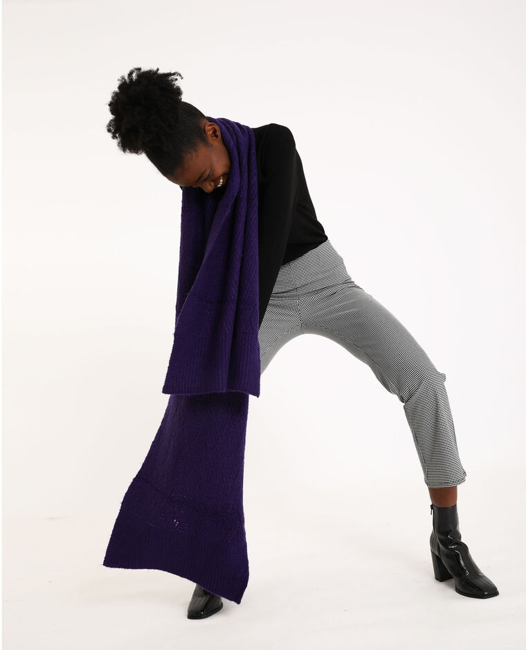 Echarpe longue violet