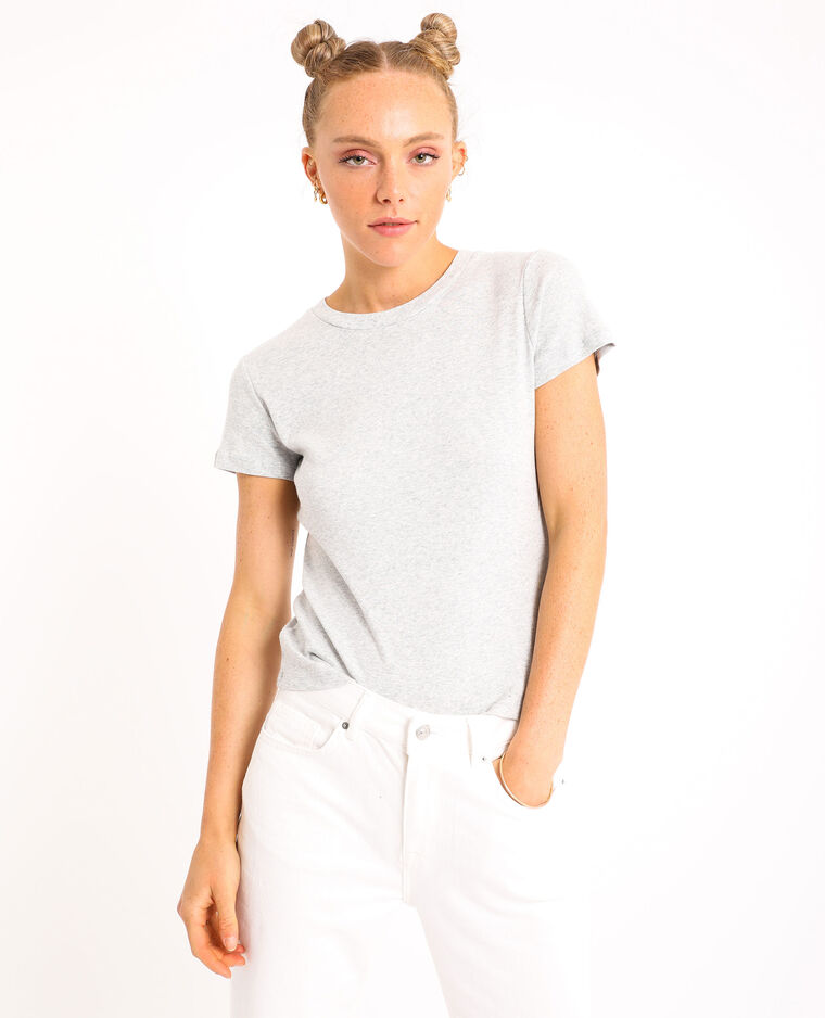 T-shirt basique gris chiné