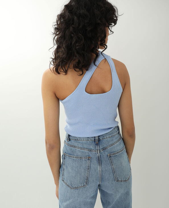 Top one shoulder bleu ciel