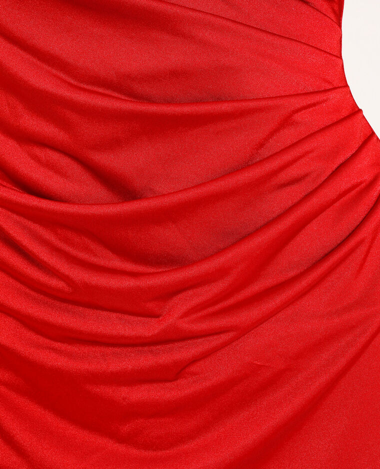 Robe à bretelles rouge