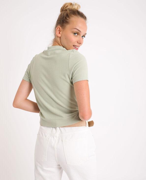 T-shirt doux vert