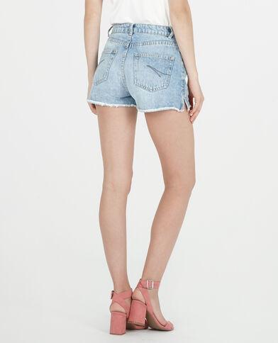 Short en jean taille haute bleu denim - Pimkie