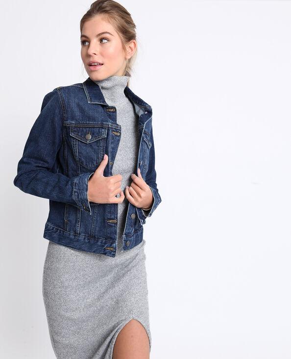 Veste en jean bleu foncé