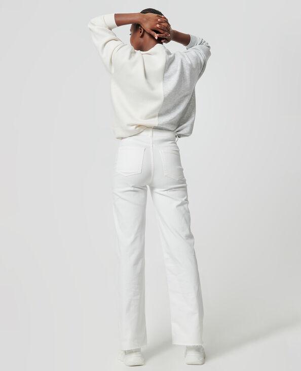 Jean Wide taille haute écru - Pimkie