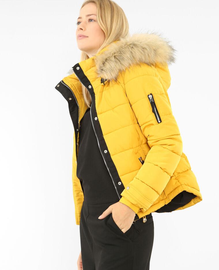 00e3313fb526 Doudoune à capuche jaune - 280115003A00   Pimkie