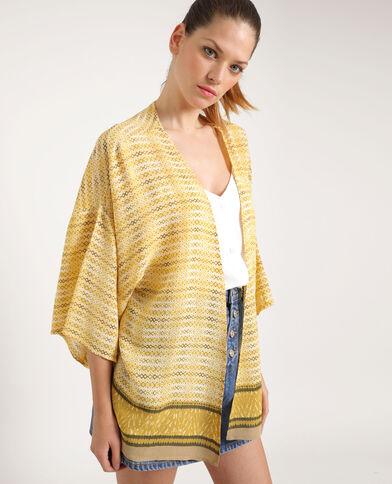 Kimono imprimé jaune