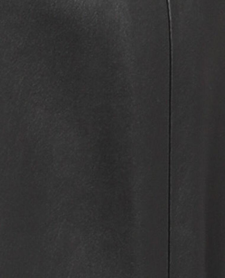 Jupe courte simili cuir noir