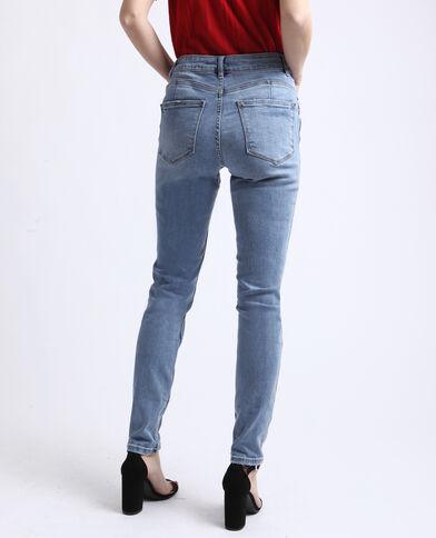 Jean push up mid waist bleu