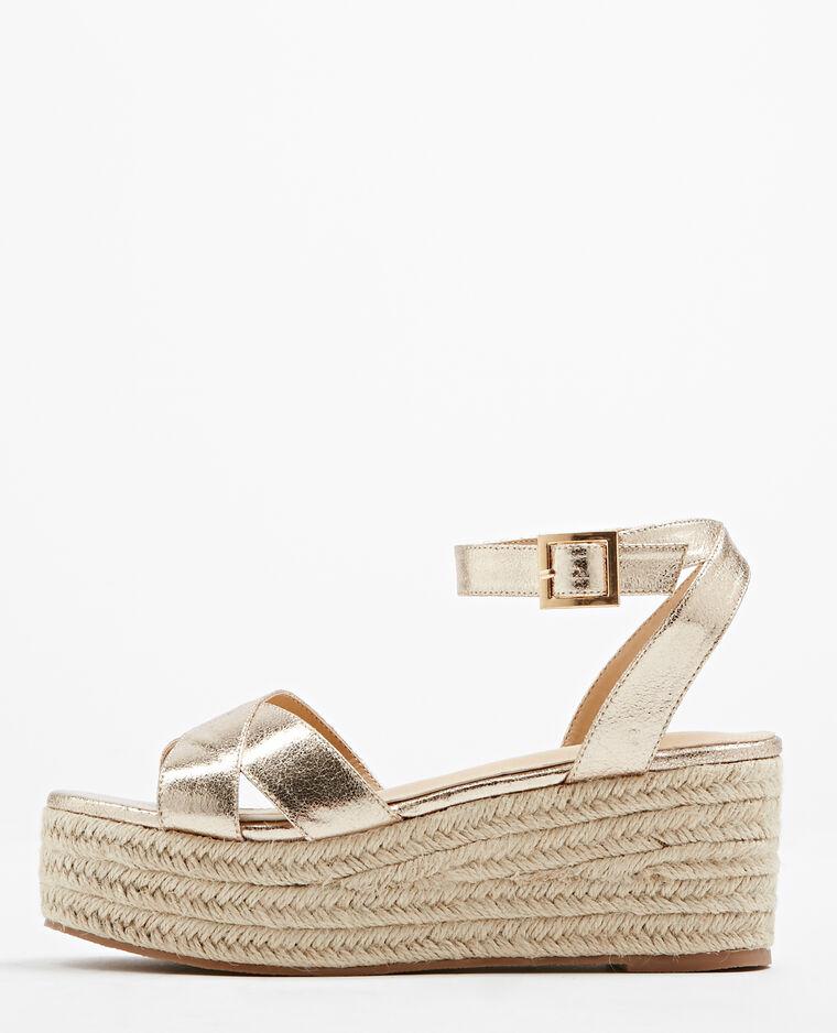 Sandales compensées doré - Pimkie