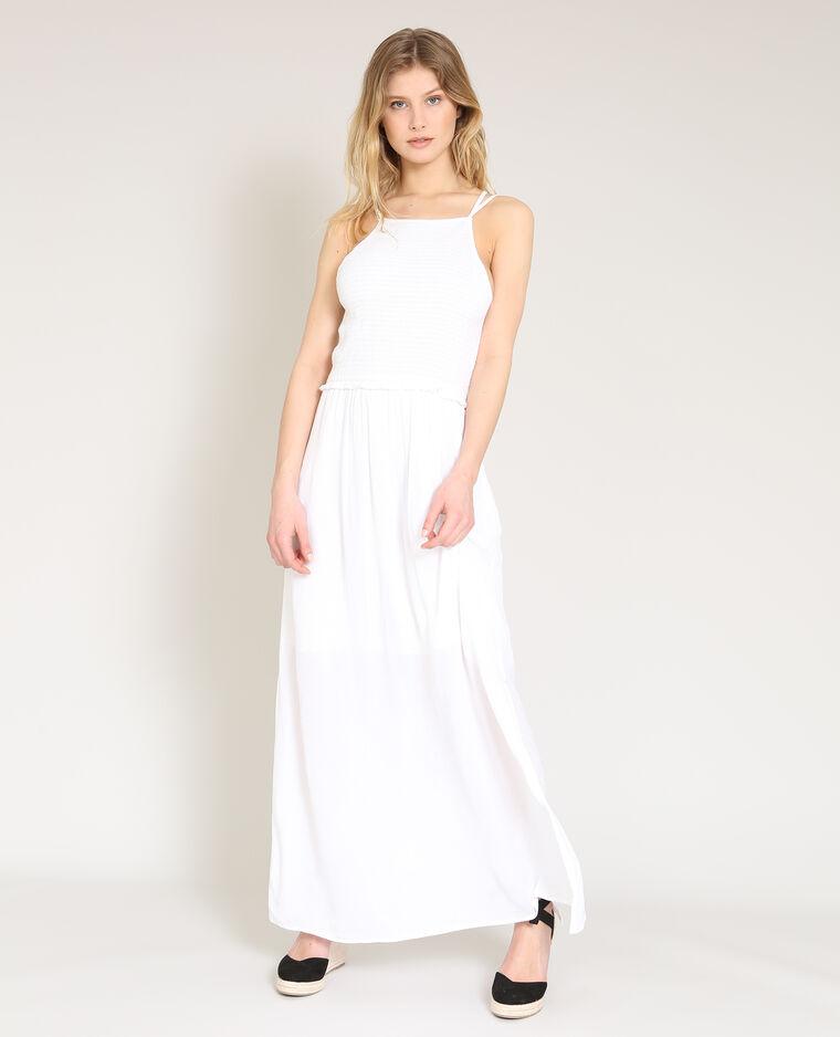 c3fd64b26b0 Robe longue à fines bretelles blanc - 780871905A09