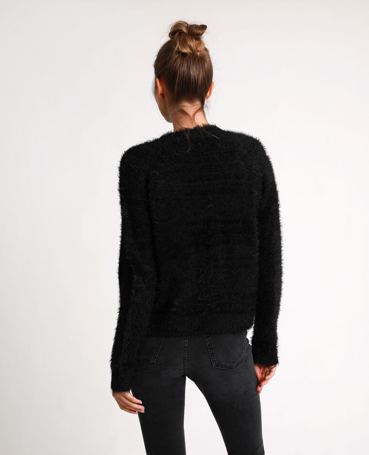 Gilet fluffly noir