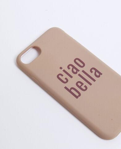 Coque compatible iPhone Ciao Bella nude