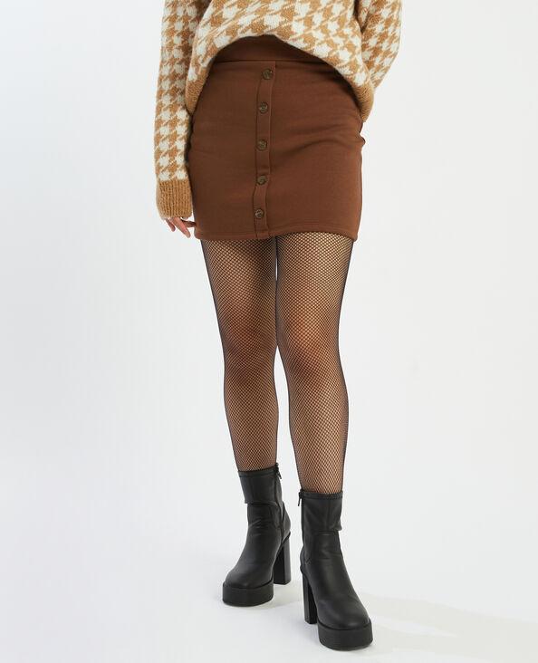 Jupe courte molleton marron - Pimkie