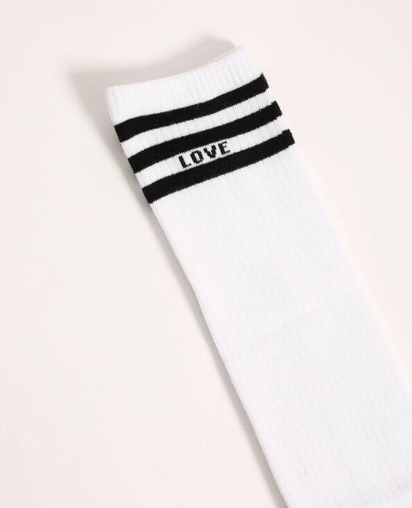 Paire de chaussettes hautes blanc - Pimkie