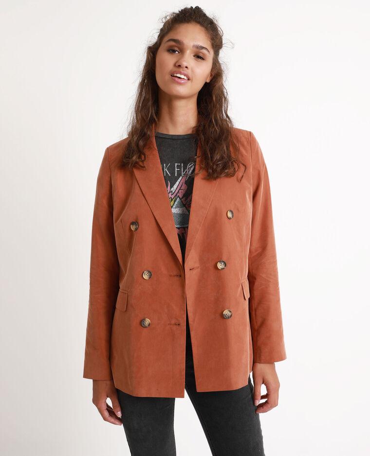 Veste large marron