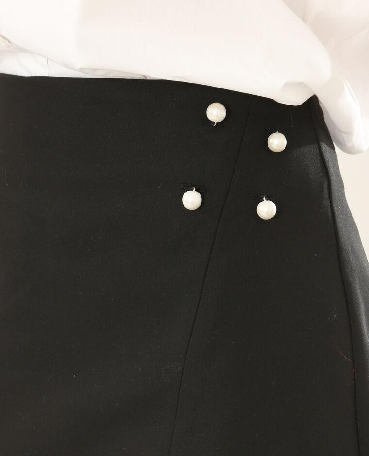 Jupe short à perles noir