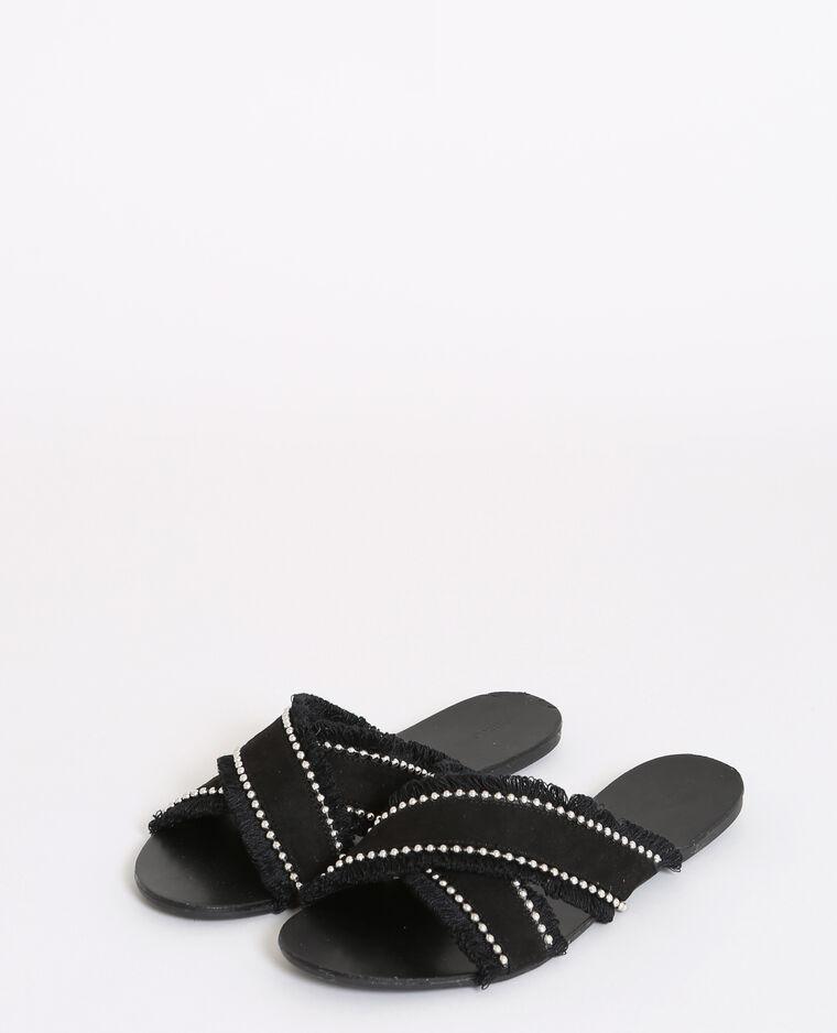 Sandales plates noir