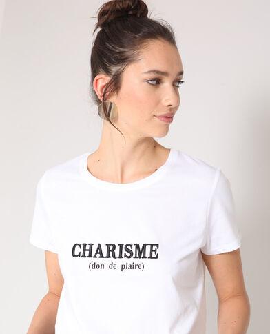 T-shirt charisme blanc