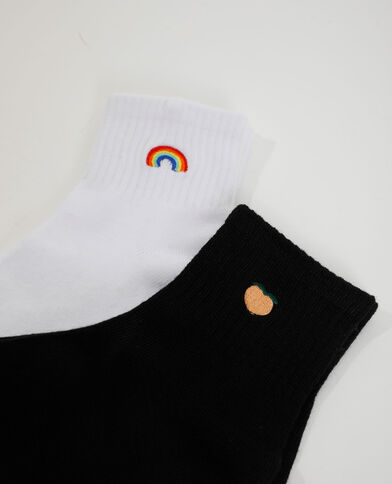 2 paires de chaussettes noir - Pimkie