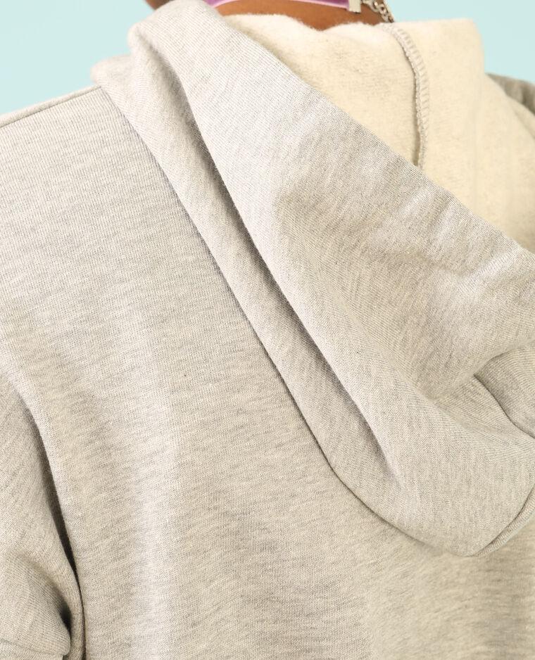 Robe sweat à capuche gris chiné