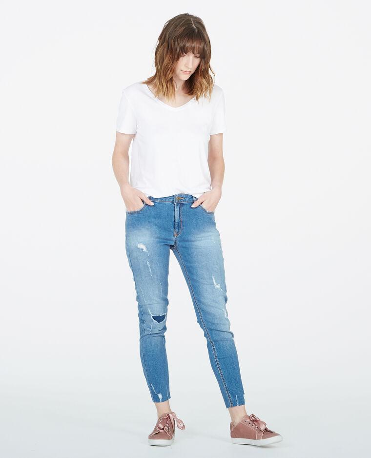 Jean skinny destroy bleu