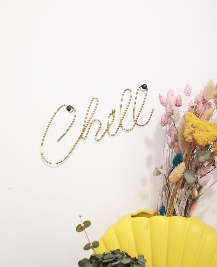 Décoration murale chill jaune - Pimkie