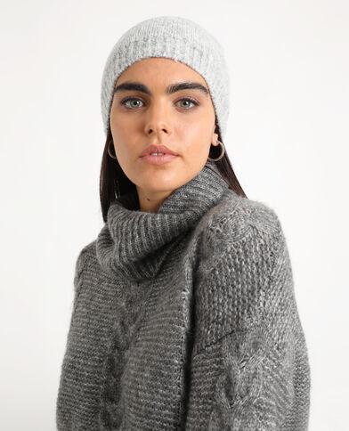 Bonnet doux gris chiné
