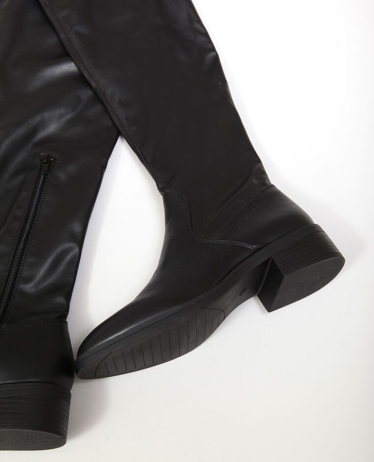 Cuissardes en simili cuir noir